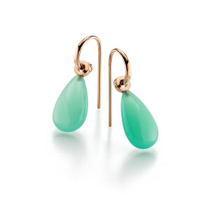 Ear Rings, Chrysoprase and Red Gold