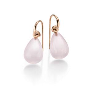 Diana Faraj Schmuck ‧ Earrings rose quartz rose gold