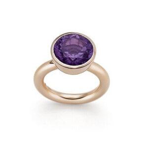 Ring, Amethyst und Rotgold