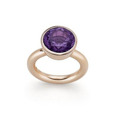 Ring, Amethyst und Rotgold