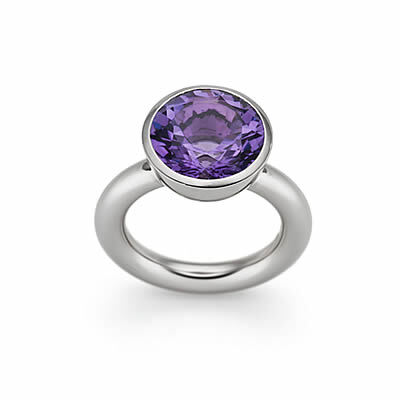 Ring, Amethyst and White Gold