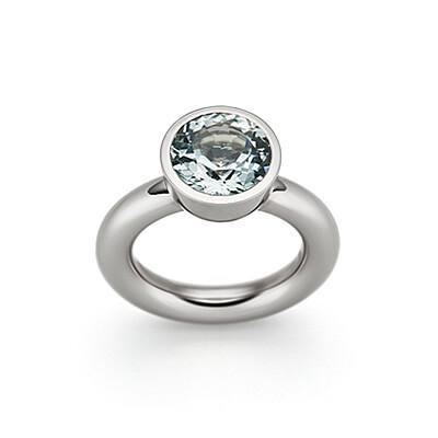 Ring, Grüner Beryll und Weißgold