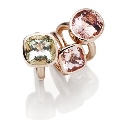 Ring Ensemble in Rotgold