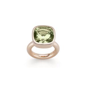 Ring, Grüner Beryll und Rotgold