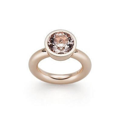 Ring, Morganite and Red Gold