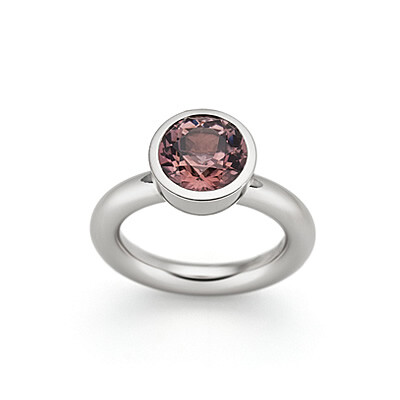 Ring, Morganite and White Gold